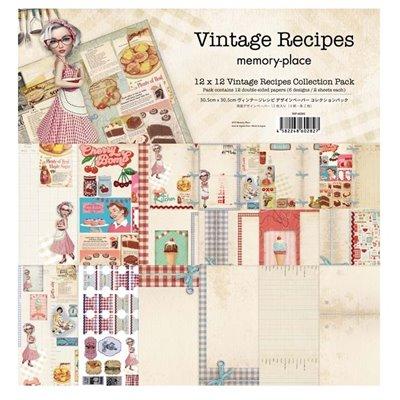 """Memory Place - Vintage Recipes kollekció (12x12"""")"""