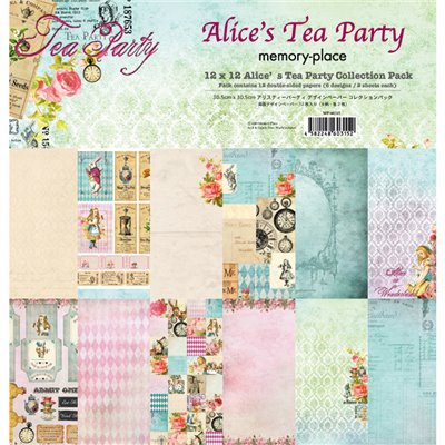 "Memory Place - Alice's Tea Party kollekció (12x12"")"