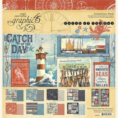 "Graphic 45 - Catch of the Day kollekció (12x12"")"