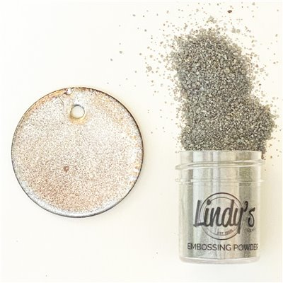 Lindy's Stamp Gang Chrome Doesn't Pay Embossing Powder