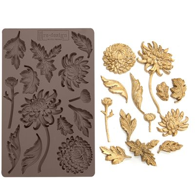 Prima Re-Design Szilikon öntőforma - Mould - Botanist Floral