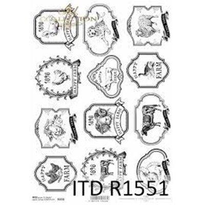 Rizspapír A4 des.1551
