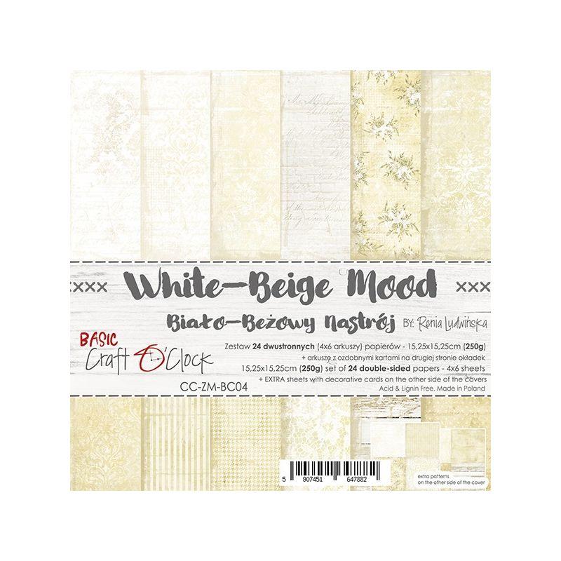 White-Beige Mood - Basic set - papírkészlet 15,25 x 15,25 cm
