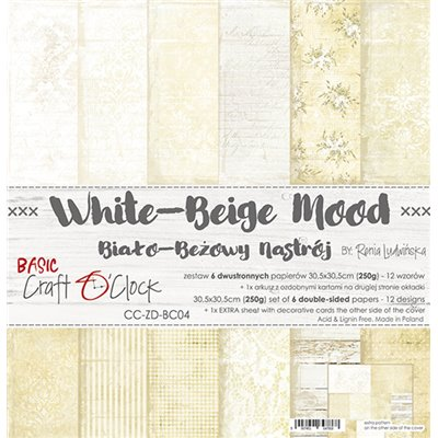 White-Beige Mood - Basic set - papírkészlet 30,5x30,5cm