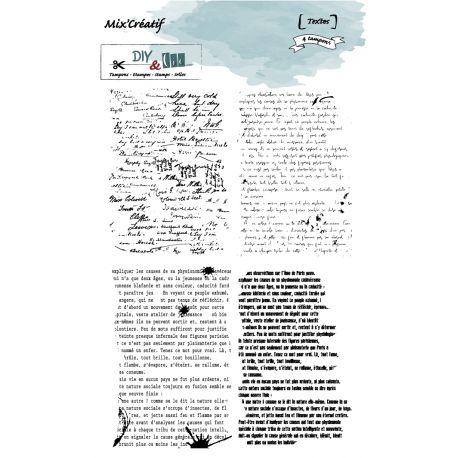 Textes - szilikonbélyegző (4db)
