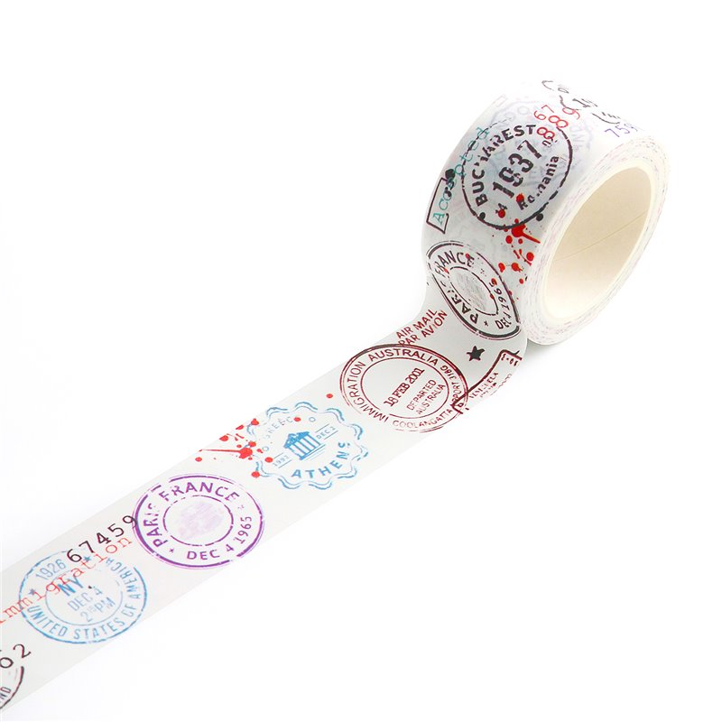 AALL and Create washi tape des.14 - Passport Stamps
