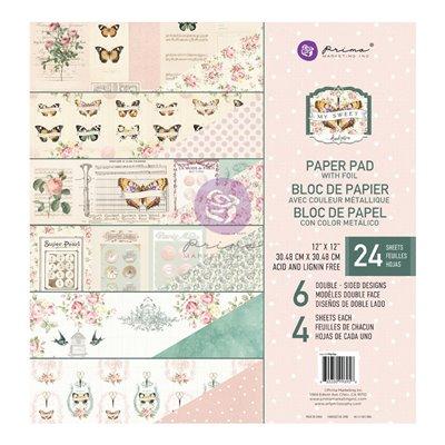 My Sweet 12x12-es fóliás mini kollekció - 6 lap