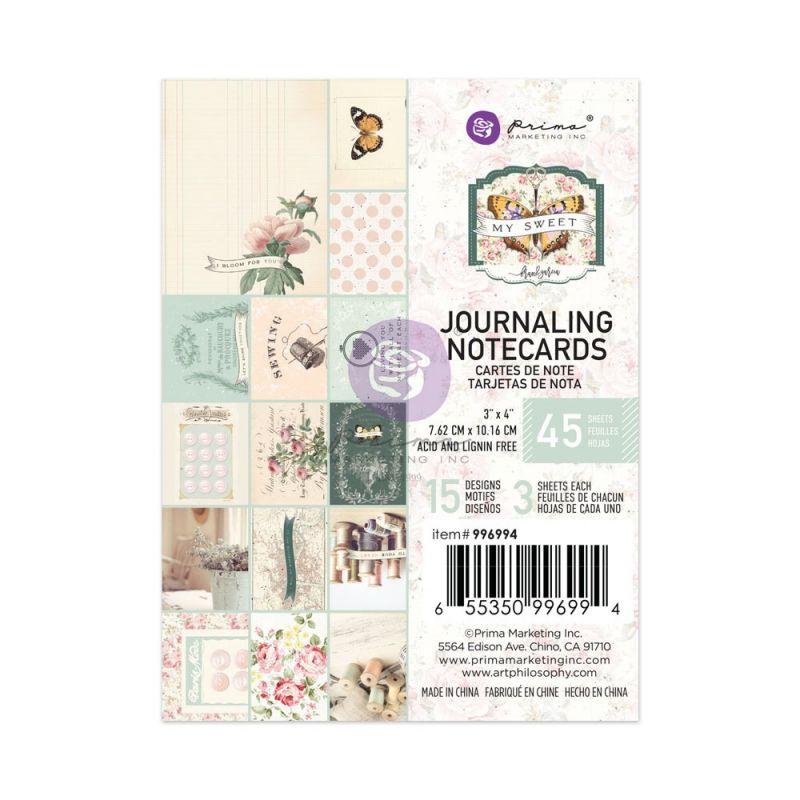 "My Sweet kollekció 3x4"" Journaling Cards - 3x4"" , 45 lap"