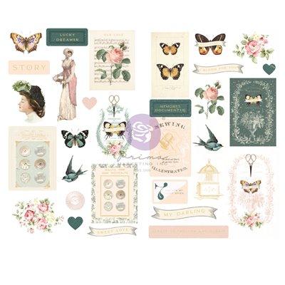 My Sweet kollekció - Fóliás Chipboard szett – 31db