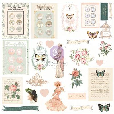 My Sweet kollekció - Fóliás Ephemera - 27db