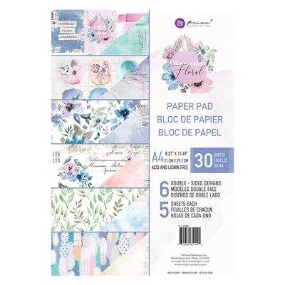 Watercolor Floral kollekció A4 paper pad – 30 lap