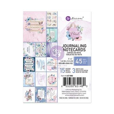 "Watercolor Floral kollekció 3x4"" Journaling Cards - 3x4"" , 45 lap"