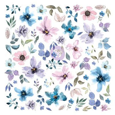 Watercolor Floral kollekció - Fóliás Ephemera - 77db