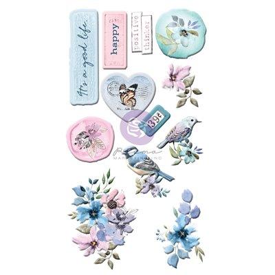Watercolor Floral kollekció - Puffy Stickers 12db