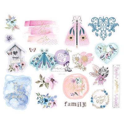 Watercolor Floral kollekció - Chipboard szett – 20db