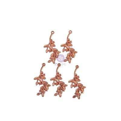 Watercolor Floral kollekció - Metal Charms - 5db