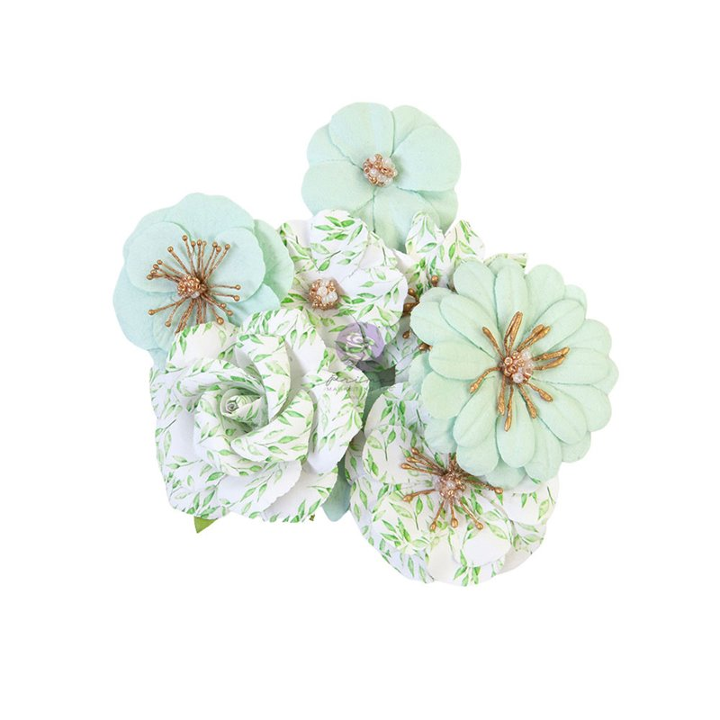 Prima Flowers - Watercolor Floral - Minty Water