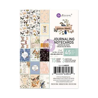 """Nature Lover kollekció 3x4"""" Journaling Cards - 3x4"""" , 45 lap"""