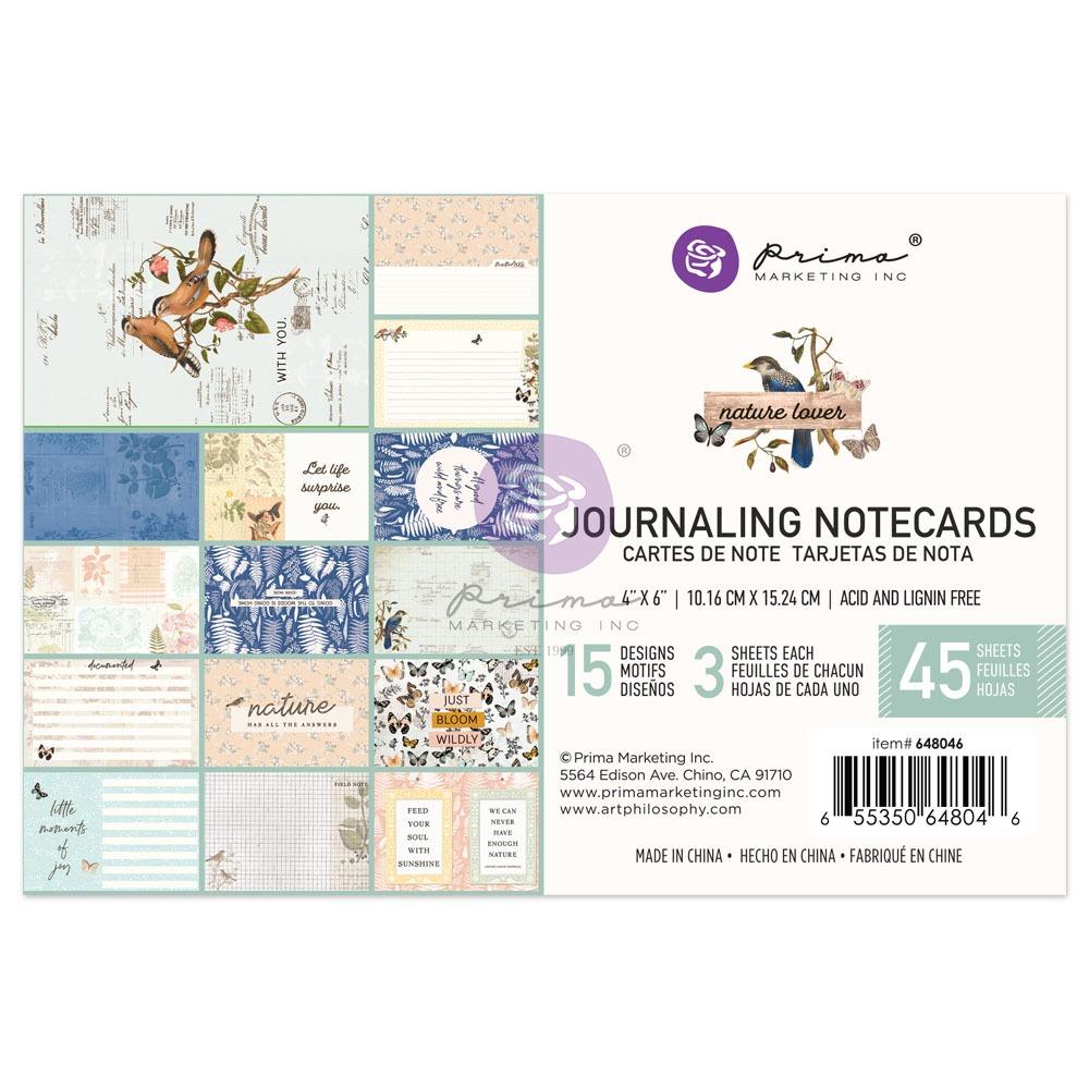 """Nature Lover kollekció 4x6"""" Journaling Cards - 4x6"""" , 45 lap"""