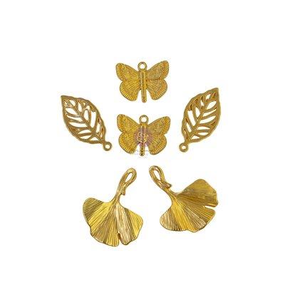 Nature Lover kollekció - Metal Charms - 6db