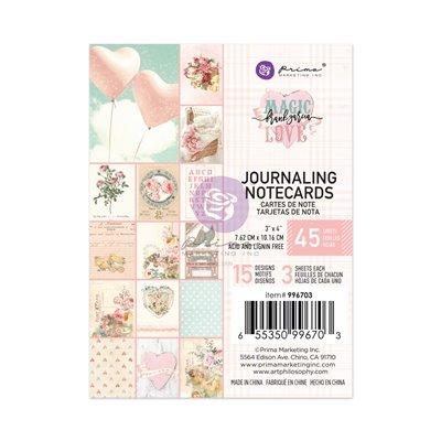 """Magic Love kollekció 3x4"""" Journaling Cards - 3x4"""" , 45 lap"""