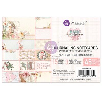 """Magic Love kollekció 4x6"""" Journaling Cards - 45 lap"""