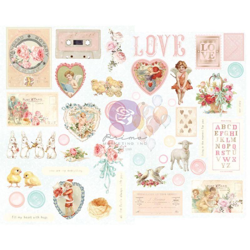 Magic Love kollekció - Chipboard szett – 44db