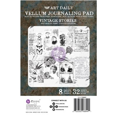 Finnabair - Art Daily Velum Pad - Vintage Stories