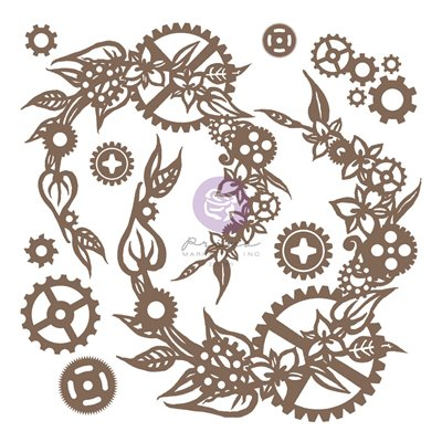 Finnabair - Decorative Chipboard - Steampunk Wreath 13db