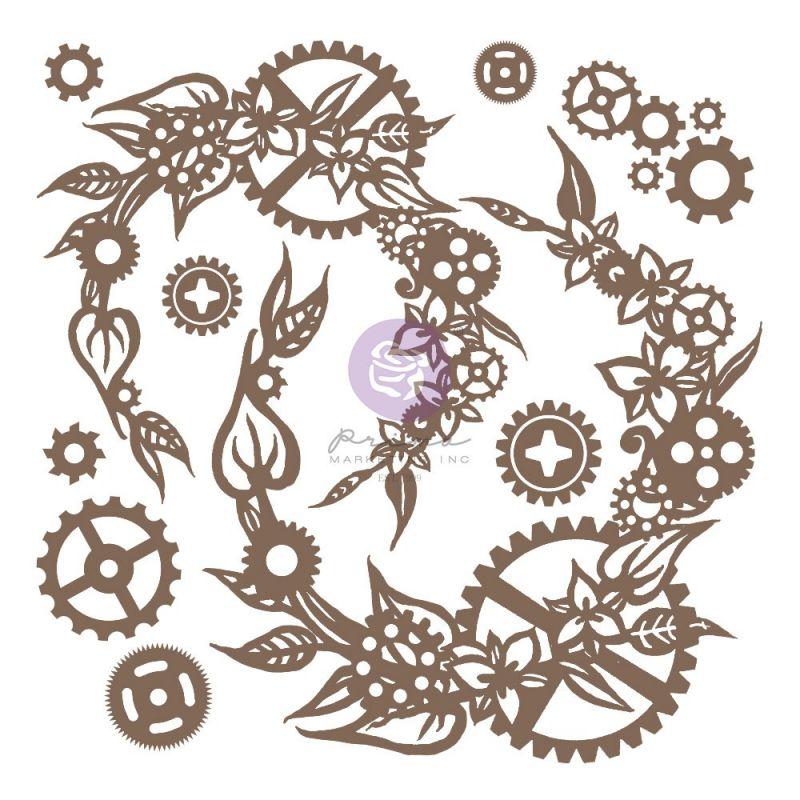 Finnabair - Decorative Chipboard - Steampunk Wreath 13db