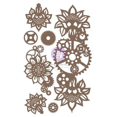 Finnabair - Decorative Chipboard - Machine Floral Decors 7db