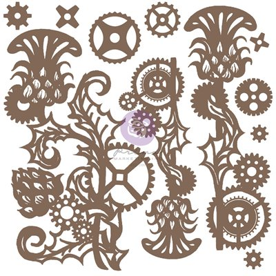 Finnabair - Decorative Chipboard - Mechanical Thistle 11db