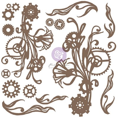 Finnabair - Decorative Chipboard - Mechanical Flourishes 16db