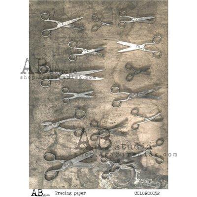 Színes mintás pauszpapír 00052