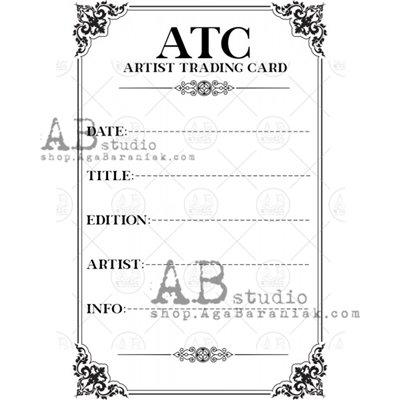 "Gumibélyegző - ID-1109 ""ATC"" Artist Trading Card 2"