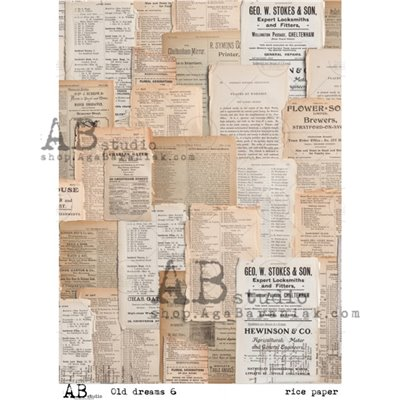 """Decoupage papír """"Old dreams 6"""""""