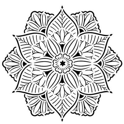 "Spring Doily 6""x6""-os stencil, Pastel Spring"