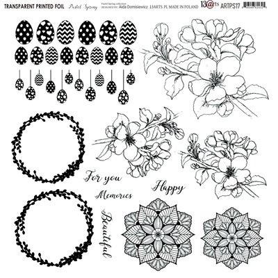 """Átlátszó fólia - Pastel Spring - 12""""x12"""""""