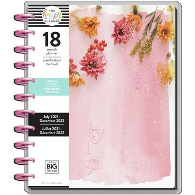 "Happy Planner 18-Month Dated Big Planner - Pressed Flowers - 8,25"" x 11,5"""