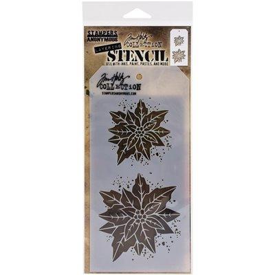 Tim Holtz Layered Stencil - Poinsettia Due