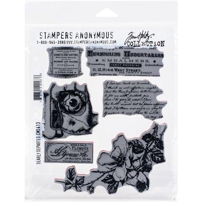 Tim Holtz Cling Stamps - Dearly Departed - bélyegzőszett