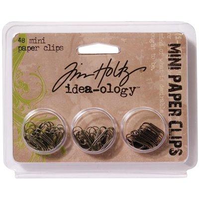 Tim Holtz Idea-Ology Metal Mini Paper Clips (48 db)