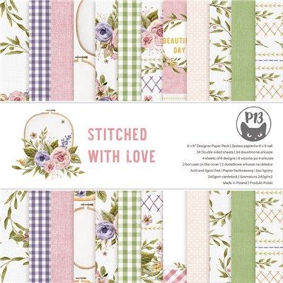 """Stitched with Love - 6""""-es kollekció (24 db 2 oldalas papír + 2 db kivágóív)"""