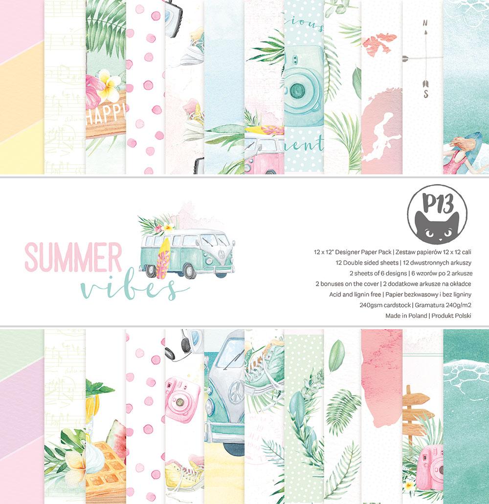 """Summer vibes - 12""""-es maxi kollekció (12 db 2 oldalas papír + 2 db kivágóív)"""