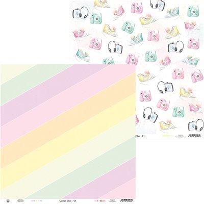 """Summer vibes - 12""""-es mini kollekció (6 db 2 oldalas papír + 1 db kivágóív)"""