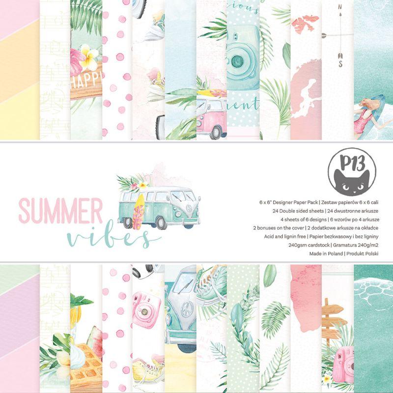 """Summer vibes - 6""""-es kollekció (24 db 2 oldalas papír + 2 db kivágóív)"""