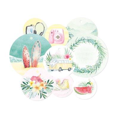 Summer vibes - dekorációs címkék 01 - 9 db