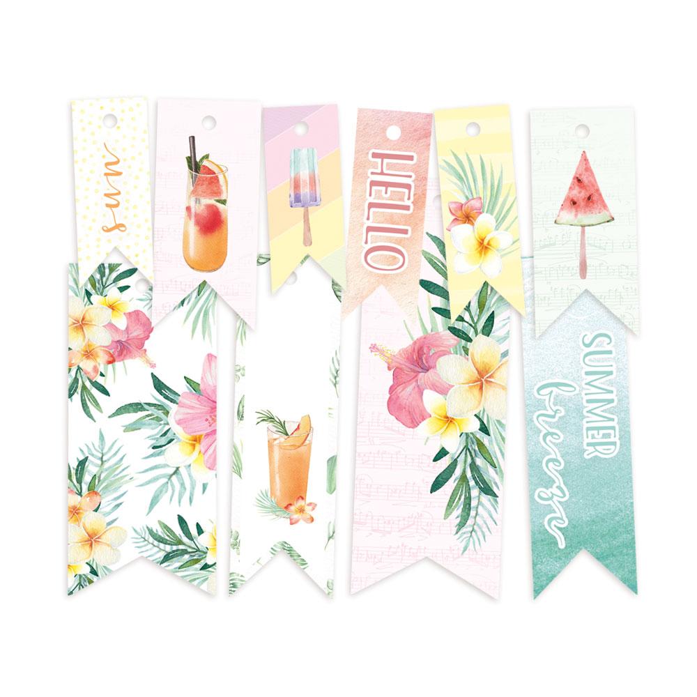 Summer vibes - dekorációs címkék 02 - 10 db