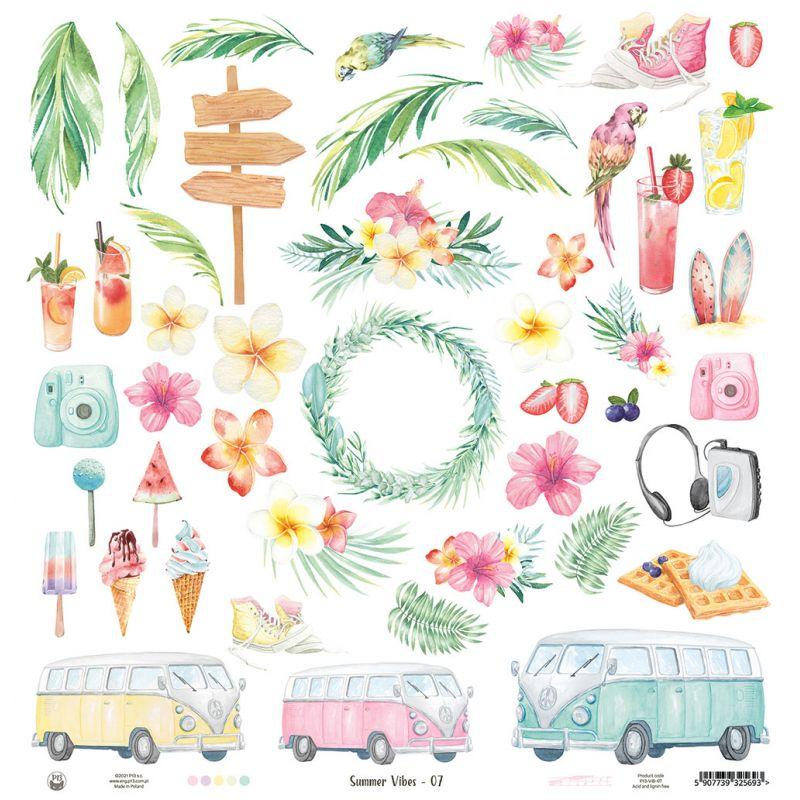 """Summer vibes - kivágóív 12x12"""""""