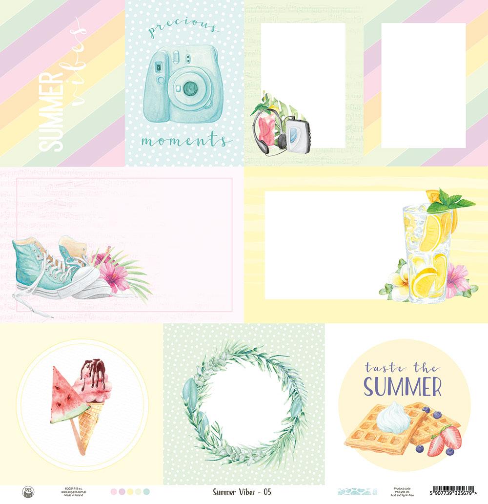 """Summer vibes - kivágóív kártyák 12x12"""""""